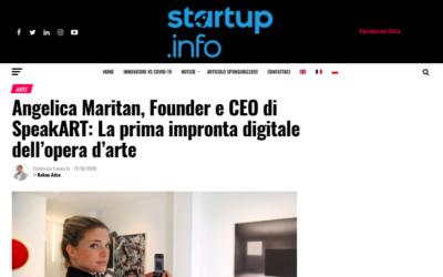 Startup.info: La prima impronta digitale dell'opera d'arte