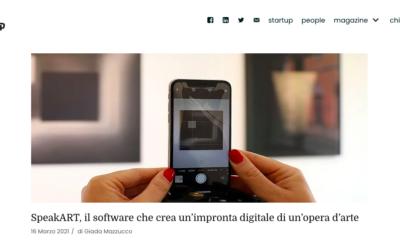 VenetoUP: SpeakART, il software che crea un'impronta digitale di un'opera d'arte