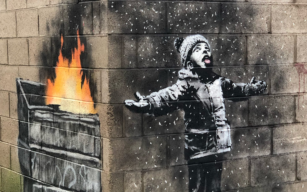 Banksy brucia