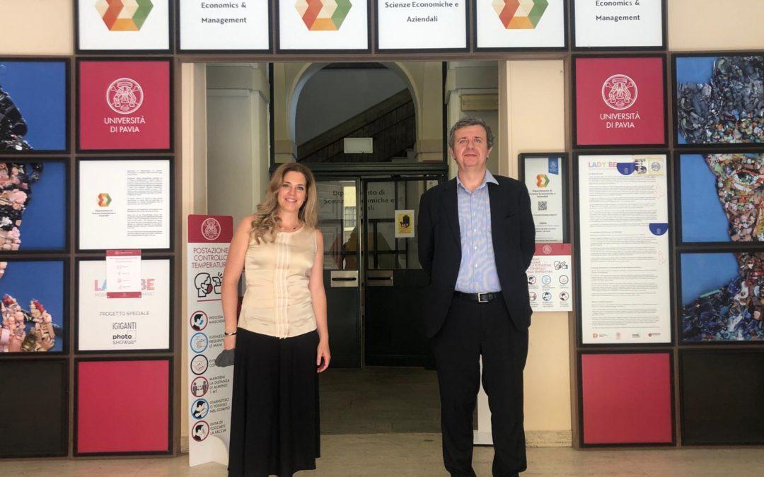 Lezione presso il Master Gestione Innovativa dell'Arte – Università di Pavia