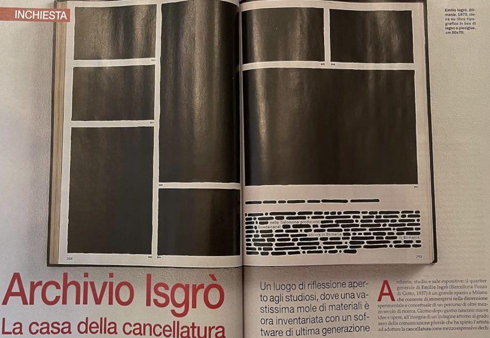 Arte: Isgrò Archive. The house of erasing